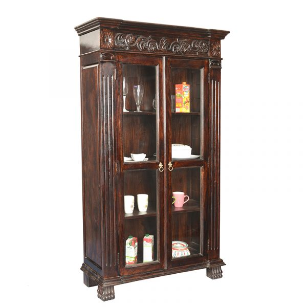 Verito Wooden Crockery Unit Eshopregal Sheesham Wood