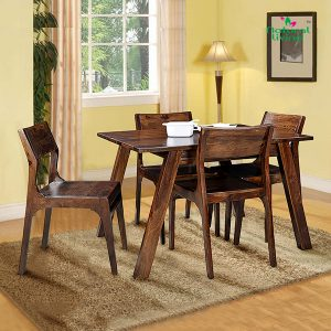 Vylo six seater wooden dining set furniture in pune mumbai bangalore goa indore jaipur