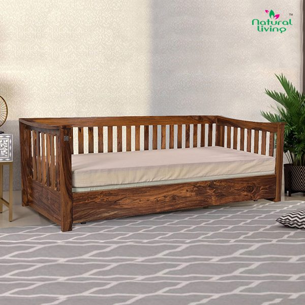 Indus Wooden Sofa Cum Bed furniture in pune mumbai bangalore goa indore jaipur