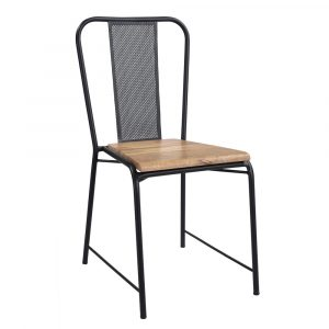 Iron Mess Chair Wood Top furniture in pune mumbai goa Bangalore indore jaipur